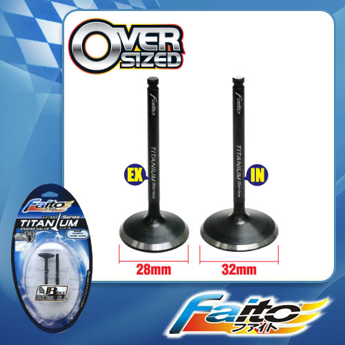 RACING ENGINE VALVE SET (TITANIUM) - EX5DREAM/WAVE100 (28mm+32mm