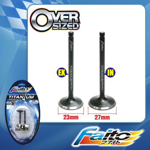 RACING ENGINE VALVE SET (TITANIUM) - WAVE 125(23mm+27mm)