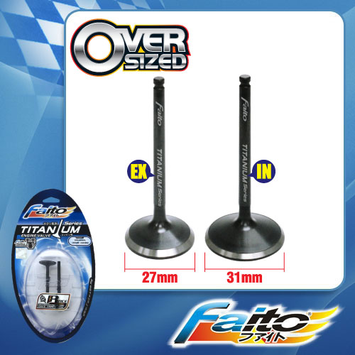 RACING ENGINE VALVE SET (TITANIUM) - EGO/NOUVO(27mm+31mm)