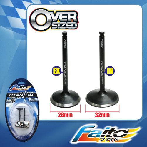 RACING ENGINE VALVE SET (TITANIUM) - EGO/NOUVO(28mm+32mm)