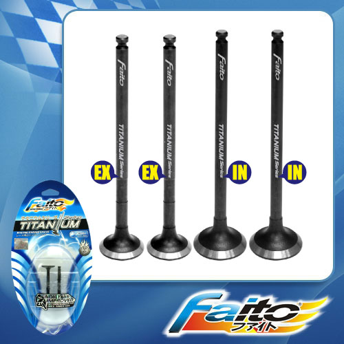 RACING ENGINE VALVE SET (TITANIUM) - LC135 (CLUTCH-2011)