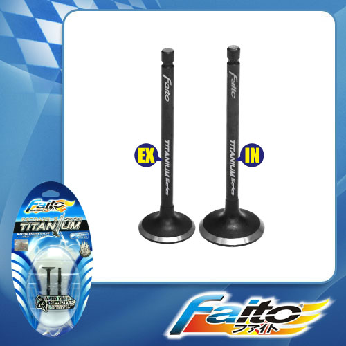 RACING ENGINE VALVE SET (TITANIUM) - GT128