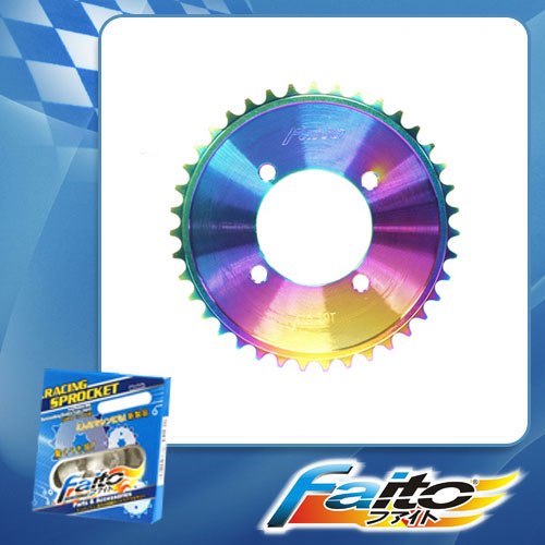 RACING REAR SPROCKET (RAINBOW) - SHOGUN125(NEW)(415)