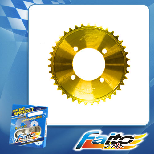 RACING REAR SPROCKET (GOLD) - SHOGUN125