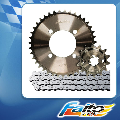 RACING SPROCKET CHAIN ASSY (GUN METAL) - SHOGUN125(NEW) (415)