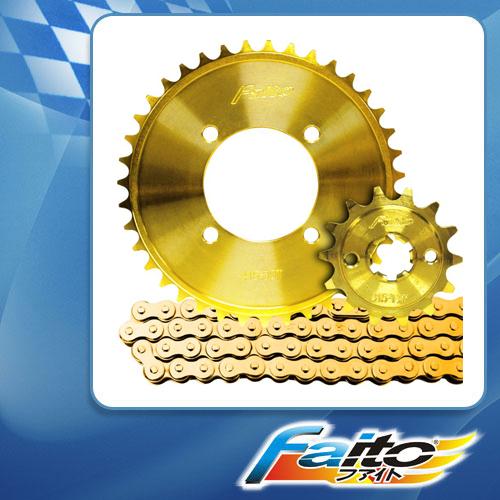 RACING SPROCKET CHAIN ASSY (GOLD) - SHOGUN125(NEW) (415)
