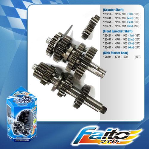 RACING GEAR SET ( COMPLETE )  - WAVE125