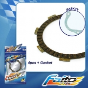 RACING CLUTCH PLATE  (SWIFT-Z) - WAVE100 (4pcs)