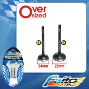 RACING ENGINE VALVE SET (TITANIUM) - EGO/NOUVO(24mm+28mm)