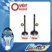 RACING ENGINE VALVE SET (TITANIUM) - EX5(24mm+28mm)