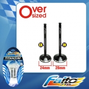 RACING ENGINE VALVE SET (TITANIUM) - WAVE110(24mm+28mm)