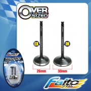 RACING ENGINE VALVE SET (TITANIUM) - EX5DREAM/WAVE100 (26mm+30mm