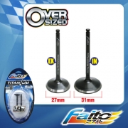 RACING ENGINE VALVE SET (TITANIUM) - EX5DREAM/WAVE100 (27mm+31mm
