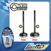 RACING ENGINE VALVE SET (TITANIUM) - SONIC(27mm+31mm)
