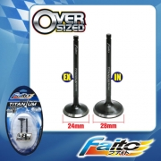 RACING ENGINE VALVE SET (TITANIUM) - WAVE 125(24mm+28mm)