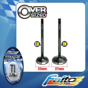 RACING ENGINE VALVE SET (TITANIUM) - WAVE DASH(23mm+27mm)