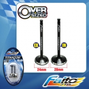 RACING ENGINE VALVE SET (TITANIUM) - WAVE DASH(24mm+28mm)