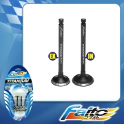 RACING ENGINE VALVE SET (TITANIUM) - WAVE125