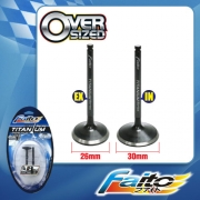 RACING ENGINE VALVE SET (TITANIUM) - SRL110/SRL115Z(26mm+30mm)