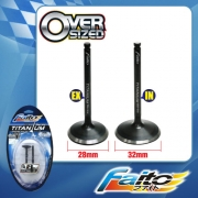RACING ENGINE VALVE SET (TITANIUM) - SRL110/SRL115Z(28mm+32mm)