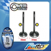 RACING ENGINE VALVE SET (TITANIUM) - SRL115Z(23mm+27mm)