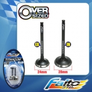 RACING ENGINE VALVE SET (TITANIUM) - SRL115Z(24mm+28mm)