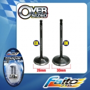 RACING ENGINE VALVE SET (TITANIUM) - GT128(26mm+30mm)