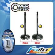 RACING ENGINE VALVE SET (TITANIUM) - KRISS(26mm+30mm)