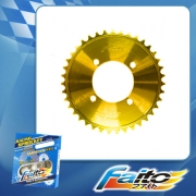 RACING REAR SPROCKET (GOLD) - WAVE125(415)