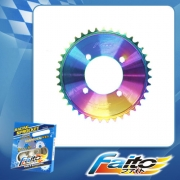 RACING REAR SPROCKET (RAINBOW) - KRISS100(