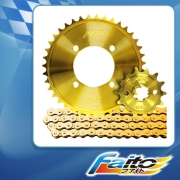 RACING SPROCKET CHAIN ASSY (GOLD) - CT110 (415)